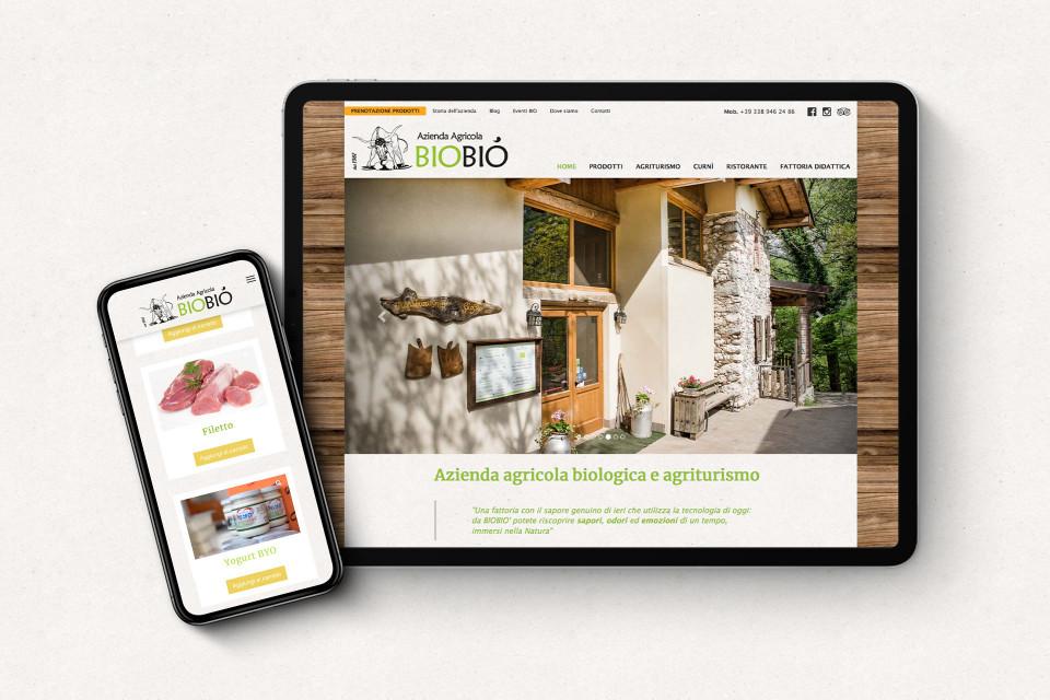 Sito web realizzato per l'azienda agricola biologica Biobiò di Vobarno (Brescia)